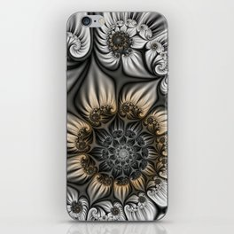 Noblesse, Modern Abstract Fractal Art iPhone Skin