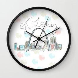 St. Louis Skyline RER Wall Clock