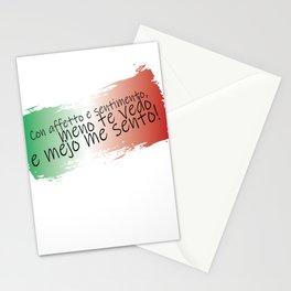 Con affetto e sentimento, meno te vedo e mejo me sento - From Italy with love Stationery Cards