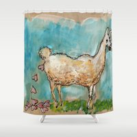 poop Shower Curtains featuring What Llamas Poop  by Taylor Winder