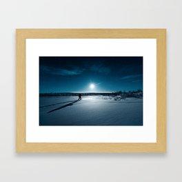 Guided by Moonlight Framed Art Print