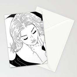 Girl in Circle with Sheet Stationery Cards