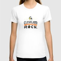 cleveland T-shirts featuring Cleveland Rocks by Alex McClelland