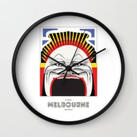 melbourne Wall Clocks featuring Melbourne by George Williams