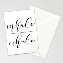 Inhale Exhale, Breathe Print, Relax sign, Inhale Exhale Print,Printable Quotes Stationery Cards