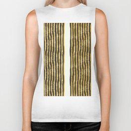 Zen Stripe Block Print Mustard Biker Tank