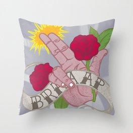 Brrrrrrrap! Throw Pillow