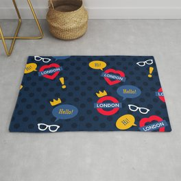 Crazy London Pattern Rug