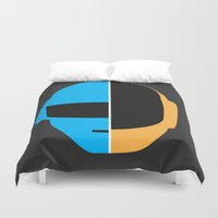 daft punk Duvet Covers featuring Daft Punk by Alli Vanes