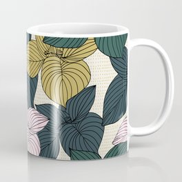 Jungle Summer Floral and Texture Coffee Mug