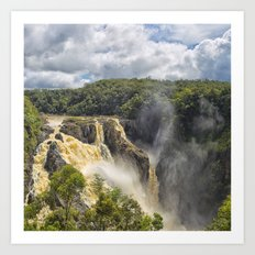 Beautiful wild waterfall Art Print