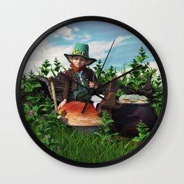 Leprechaun Gold Wall Clock