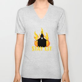 Hot and fiery tee design that is perfect for gift to your friends and family! Grab yours now!  Unisex V-Neck