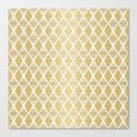 White and Gold Geometric Pattern by klaraacel