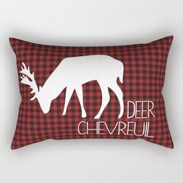 Lumberjack Plaid Deer Rectangular Pillow