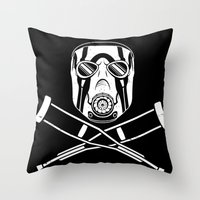 video game Throw Pillows featuring Badass - The Video Game by adho1982
