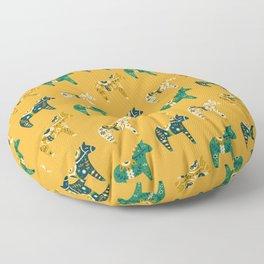 Dala Horse Pattern Floor Pillow