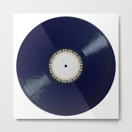 Vinyl Long Player With Keyboard Icon Metal Print