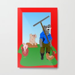 Nemesis and Muddy on the Farm  Metal Print