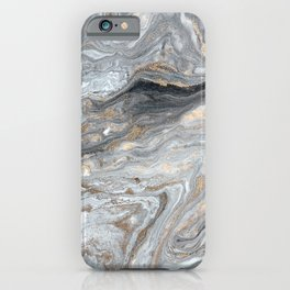 Marble Glitter Gold Fluid Painting Pouring Jupiter Surface Glamorous Shiny Metallic Accents iPhone Case
