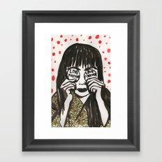 Love Forever Yayoi Kusama Framed Art Print