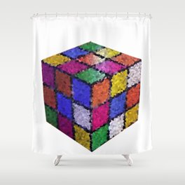 The color cube Shower Curtain