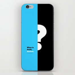 Lab No. 4 -When in doubt disclose N.r. Narayana Murthy Inspirational Corporate Startup Quotes Poster iPhone Skin