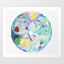 Soul Activation Mandala Art Print