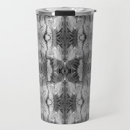 B&W Open Your Eyes Patterned Image Travel Mug