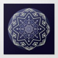 Wedgewood Sphere Mandala Canvas Print
