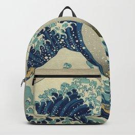 The Classic Japanese Great Wave off Kanagawa Print by Hokusai Backpack