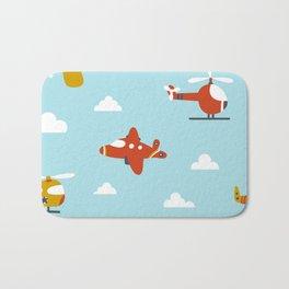 Children's plane Bath Mat
