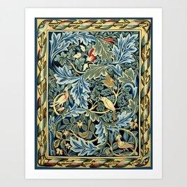 """William Morris """"Birds and Acanthus"""" Art Print"""