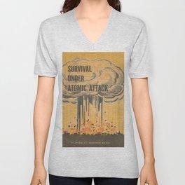 Vintage poster - Survival under atomic attack Unisex V-Neck