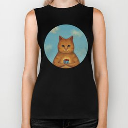 Every Cat need a Home. Ginger Cat Illustration Biker Tank