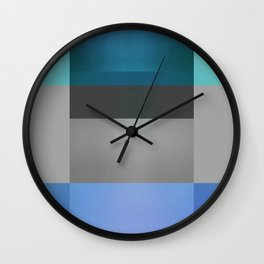 Luminous Ocean Abstract Color Study 2 Wall Clock