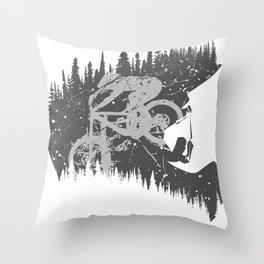 Black Fullface Throw Pillow
