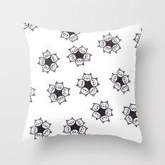Cat Blossoms Throw Pillow
