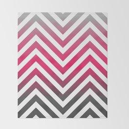 Hot pink Zig zag pattern Throw Blanket