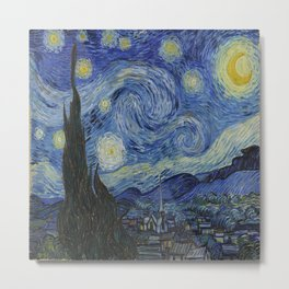 Vincent van Gogh's Starry Night Metal Print