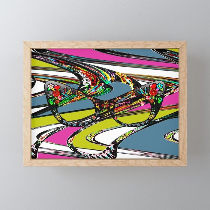 Neon Framed Mini Art Print