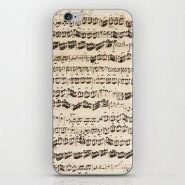 Johann Sebastian Bach (1685 – 1750) original music sheet iPhone Skin