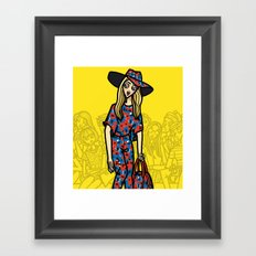 the power of 5. two Framed Art Print