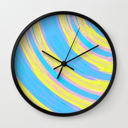 Neon Circles Wall Clock