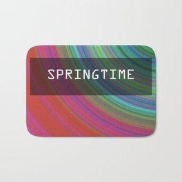 Spring airs. Circles of spring colors. Bath Mat