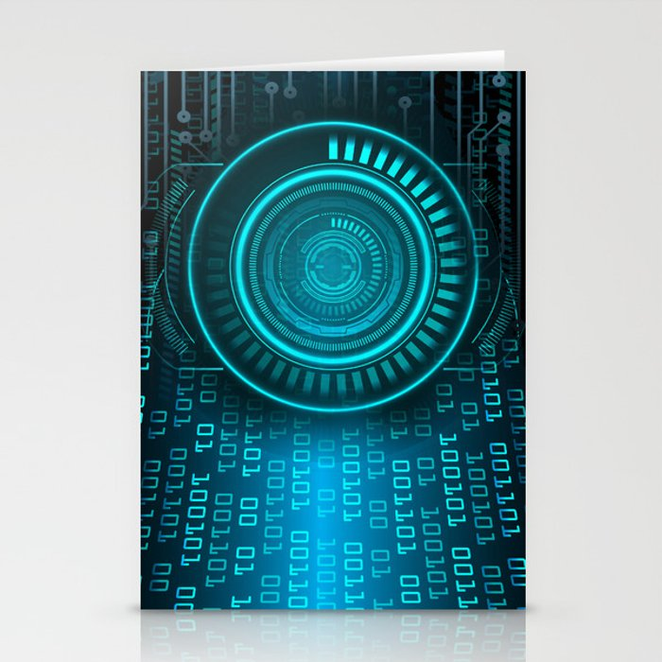 Futurist Matrix | Digital Art Stationery Cards