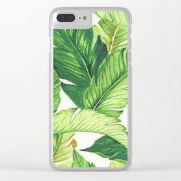 BANANA JUNGLE Clear iPhone Case