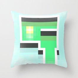 London Fog Cafe, Oregon Throw Pillow