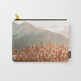 Golden Wheat Mountain // Yellow Heads of Grain Blurry Scenic Peak Carry-All Pouch