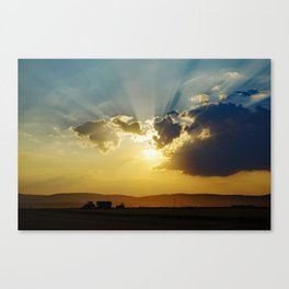 Farmers work Canvas Print